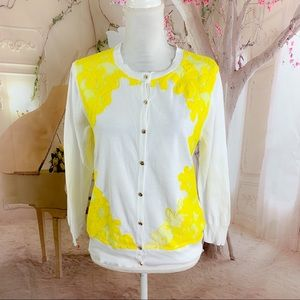 Ted Baker London Lace trim yellow cardigan